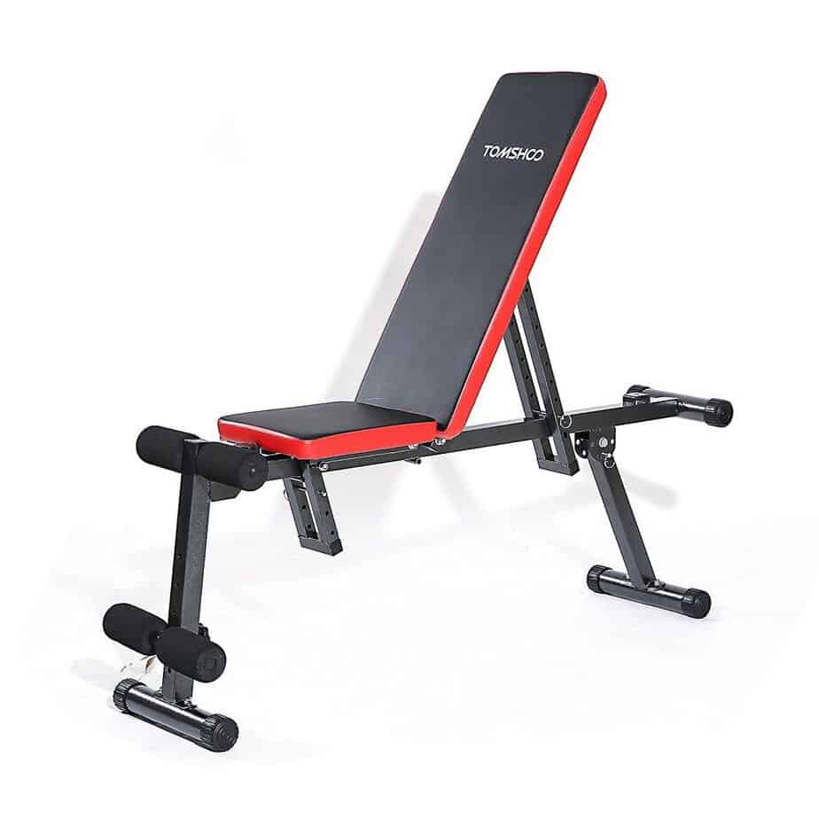 TOMSHOO Adjustable Folding AB Bench
